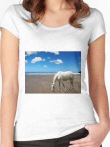 On the Beach Women's Fitted Scoop T-Shirt