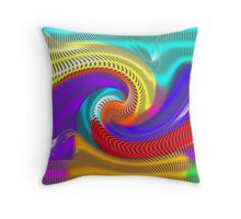 Psychedelic Rainbow Throw Pillow