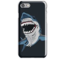 Angry Shark illustration iPhone Case/Skin