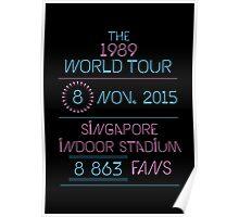 8th november - Singapore Indoor Stadium Poster