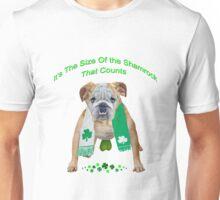 Bulldog Shamrock Size Counts Unisex T-Shirt