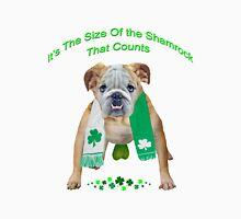 Bulldog Shamrock Size Counts Unisex T-Shirt
