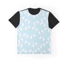 Baby Footprints (Footsteps) - White Blue Graphic T-Shirt