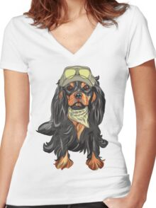 Cavalier King Charles Spaniel Women's Fitted V-Neck T-Shirt