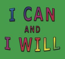 I Can And I Will One Piece - Short Sleeve