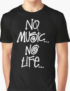 No Music No lIfe Graphic T-Shirt