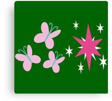 My little Pony - Fluttershy + Twilight Sparkle Cutie Mark Canvas Print