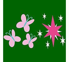 My little Pony - Fluttershy + Twilight Sparkle Cutie Mark Photographic Print