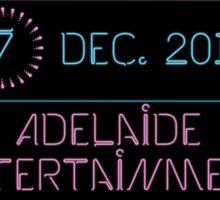 7th December - Adelaide Entertainment Centre Sticker