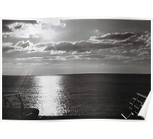 Sunset over The Irish Sea Poster