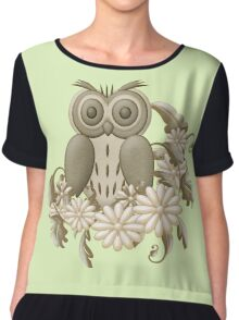 Mr Owl Chiffon Top