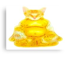 Buddha Cat Canvas Print