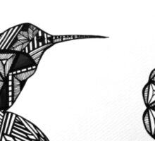 Hummingbird and Rose Sticker