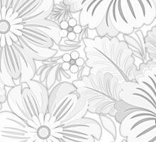 Floral Sketch Sticker