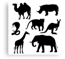 African animals icons,vector illustration Canvas Print