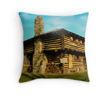 Cabin on Fort Ouiatenon Throw Pillow