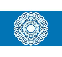 White Lotus Symbol Photographic Print
