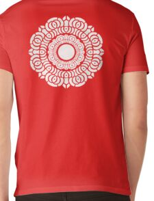 White Lotus Symbol Mens V-Neck T-Shirt