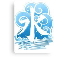 Water Tribe Symbol V3 Transparent Canvas Print
