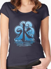 Water Tribe Symbol V3 Transparent Women's Fitted Scoop T-Shirt