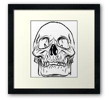 Large Raw Human Skull Framed Print