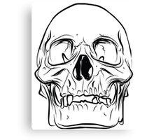 Large Raw Human Skull Canvas Print