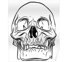 Large Raw Human Skull Poster