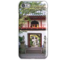 Entrance to the great green Buddha in Nagoya iPhone Case/Skin