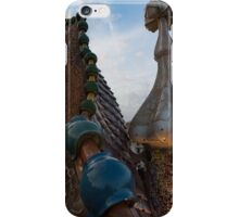 Up Close and Personal - Antoni Gaudi's Dragon's Back and Cross Turret at Casa Batllo iPhone Case/Skin