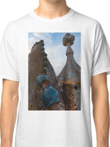 Up Close and Personal - Antoni Gaudi's Dragon's Back and Cross Turret at Casa Batllo Classic T-Shirt