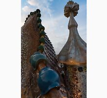 Up Close and Personal - Antoni Gaudi's Dragon's Back and Cross Turret at Casa Batllo Unisex T-Shirt
