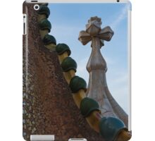Capricious Trencadis Mosaics - Antoni Gaudi's Dragon's Back and Cross Turret at Casa Batllo iPad Case/Skin