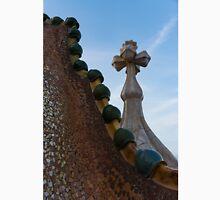 Capricious Trencadis Mosaics - Antoni Gaudi's Dragon's Back and Cross Turret at Casa Batllo Unisex T-Shirt