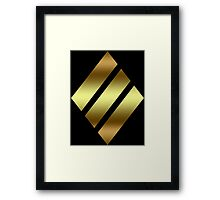 Heavy tank symbol in gold Framed Print