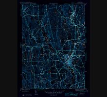 USGS TOPO Map Connecticut CT Putnam 461283 1945 31680 Inverted Unisex T-Shirt