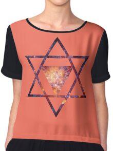 Sacred Geometry Space II Chiffon Top