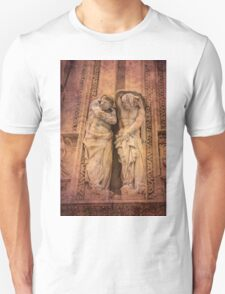 maybe workers. Milan Cathedral. Unisex T-Shirt