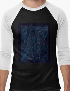 USGS TOPO Map Connecticut CT Gilead 331030 1892 62500 Inverted Men's Baseball ¾ T-Shirt