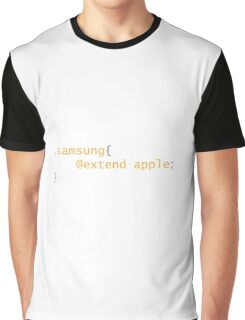 Samsung extend Apple Graphic T-Shirt