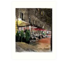 Street Life pt 10 - Parisian nights Art Print