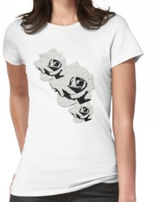 Grey Study of the Orange Rose Womens Fitted T-Shirt