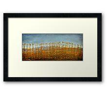 Elegant Dancing trees Framed Print