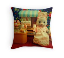 Sylvanian Families ~ Cat Ice Cream  Throw Pillow
