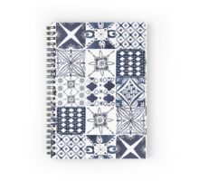 Watercolor Morrocan Tile Pattern Spiral Notebook