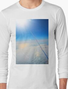 Large Endeavour's Final Voyage To Space, galaxy, world, flight, Print Poster Art Long Sleeve T-Shirt