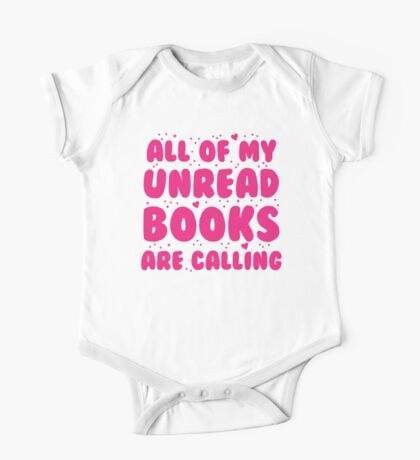 All of my unread books are calling me! One Piece - Short Sleeve