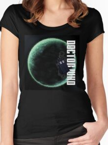 Doctor Who Slogan 2 Women's Fitted Scoop T-Shirt