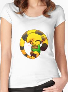 Cookie Cat Women's Fitted Scoop T-Shirt