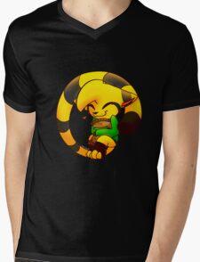 Cookie Cat Mens V-Neck T-Shirt