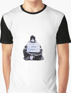 Banksy: Change Graphic T-Shirt